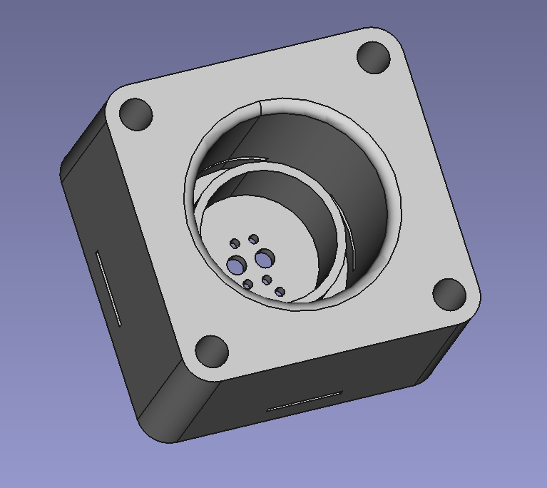The sensor half of the breath sensor. You can see there's a circular baffle inside to block light from outside.